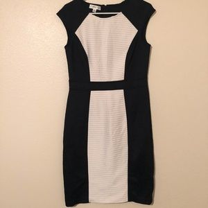London Style Black and White Cocktail Dress